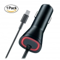 New Motorola Droid Z/Z Force/Z Play Type C USB-C Rapid Fast Car Charger - Pixel / Pixel XL Nexus 6P 5X LG G5 OnePlus2 5v/2.4a Red LED - QuickCharge 2.0